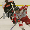 Byfield: Masconomet senior Lauren Cerretani leads the rush up-ice for the Chieftains during the second period of their game against Beverly in the first round of the state hockey tournament in Byfield on Monday. Masco won the game 4-1 to advance to the next round. Photo by Matthew Viglianti/Staff Photographer Monday, February 23, 2009.