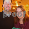 Danvers: Jeff and Eileen Bonner of Beverly attend the Stargaritaville fundraising event for the St. Mary Star of the Sea School in Danvers on Thursday night. The Bonner's planned to support the school because their son, Finn, 4, attends pre-school there. Photo by Matthew Viglianti/Staff Photographer Thursday, November 5, 2009.