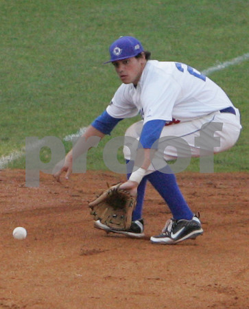 Lynn: Ben Benigno, third baseman for the North Shore Navigators, makes a back-handed pick at third during the Navigators' home game against New Bedford at Fraser Field in Lynn on Sunday. Photo by Matthew Viglianti/Staff Photographer Sunday, June 14, 2009.