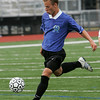 Lynn: Bryant Yavorski from Georgetown winds up for a shot during the 15th Agganis All-Star Men's Soccer Classic in Lynn on Tuesday. Photo by Matthew Viglianti/Staff Photographer Tuesday, July 13, 2010.