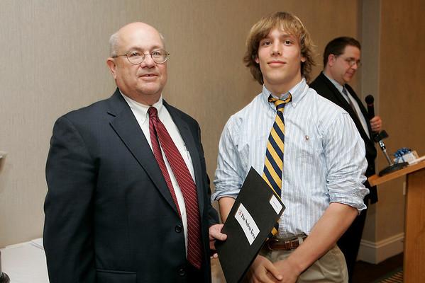 Salem News Student-Athlete Award dinner. Zach Goucher with Nelson Benton.