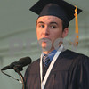 Danvers: John Corbett delivers the valedictory address during commencement ceremonies at St. John's Prep in Danvers on Sunday afternoon. Photo by Matthew Viglianti/Staff Photographer Sunday, May 17, 2009.