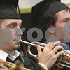 "Beverly: Beverly High School graduates Bryan McCulloch, left, and Paul Fickenwirth play the trumpet for the Beverly High School Concert Band as they perform ""The Eighties (A Decade of Hits)"" by John Higgins during graduation ceremonies at Beverly High School on Sunday. Ceremonies for the 286 graduates were held in the field house due to inclement weather. Photo by Matthew Viglianti/Staff Photographer Sunday, June 14, 2009."