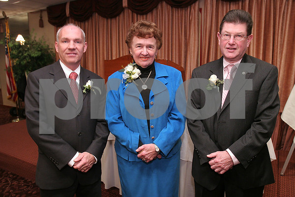 Danvers: From left, David Joyce, Janice Tipert, and Dan Bennett were all honored by the Danvers Education Enrichment Partnership at the Danversport Yacht Club on Thursday night. Photo by Matthew Viglianti/Staff Photographer Thursday, November 20, 2008.