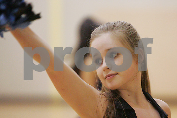 Peabody: Sarah DiBenedetto practices a routine with the Peabody High School Dance Team in preparation for their performance at the Boston Lancer's lacrosse game on February 28. Photo by Matt Viglianti/Salem News Wednesday, February 11, 2009