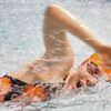 Salem: Olivia Wilson from Beverly competes in the 100-meter freestyle event at the Northeastern Conference Swim Meet at Salem State College on Wednesday night. Photo by Matthew Viglianti/Staff Photographer Wednesday, February 3, 2010.
