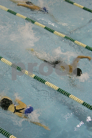 Marblehead: Swimmers compete in the 50 yard individual freestyle race at a meet between Marblehead and Swampscott on Monday evening. Photo by Matt Viglianti/Salem News Monday, December 22, 2008