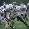 Beverly: Pentucket senior Dan Johnson (28) looks to cut past Hamilton-Wenham sophomore Zach Gaucher (86) on a third quarter carrier during the Sachem's game against Hamilton-Wenham at Endicott College in Beverly on Sunday. Pentucket won the game 14-0. Photo by Matt Viglianti/Eagle-Tribune Sunday, September 28, 2008