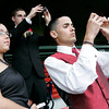 Boston: Brian Holak, center, and Abinadab Garcia, right, photograph the playing field at Fenway Park in Boston, as Bernice Garcia, Abinadab's twin sister and Brian's date, enjoys the view during the Beverly High School prom on Thursday evening. The dance was held at the State Street Pavillion Club, which overlooks the field from behind home plate. Photo by Matthew Viglianti/Staff Photographer Thursday, June 10, 2010.