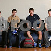 Danvers: St. John's Prep wrestlers, from left, sophomore TJ Crabtree, senior Joe Kelly, senior Dan Marden, and junior Danny Walsh contribute, both on the mat and in the classroom, to a program that has produced 25 Academic All-Americans since 1995. Photo by Matt Viglianti/Salem News Tuesday, January 27, 2009