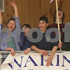 Beverly: Waring School fans cheer for the boys basketball team during the team's league championship game in Beverly on Tuesday. The team won 54-52 in overtime. Photo by Matthew Viglianti/Staff Photographer Tuesday, March 3, 2009.