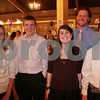 Danvers: A group of current and former students from the St. Mary Star of the Sea School in Beverly takes a break from their work at the Stargaritaville fundraising event for the school in Danvers on Thursday. From left to right are current student council president and eigth grader Kate Silvestri, 13, and graduates Owen Goetemann, 14, a freshman at Beverly High School, Mia Vitale, 14, a freshman at Beverly High School, Tim McAuliffe, a junior at Boston College, and his brother Will McAuliffe, 14, a freshman at Beverly High School. Photo by Matthew Viglianti/Staff Photographer Thursday, November 5, 2009.