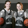 Danvers: Danvers sophomore Kellie Macdonald, left, and freshman Sarah Palazola are the two top scorers on the Faclons' varsity girls basketball team this year. The team is off to a 6-1 start this season. Photo by Matt Viglianti/Salem News Wednesday, January 07, 2009
