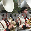 Beverly: Ben Comeau, left, and Zac Currier, right, play the sousaphone with the Beverly High School band as they march down Cabot Street during a Memorial Day Parade on Sunday afternoon. Photo by Matthew Viglianti/Staff Photographer Sunday, May 24, 2009.