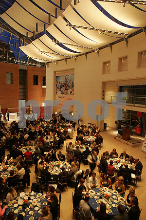 "Salem: Attendees sit down to eat at the ""Celebrate Salem"" Awards Dinner at the Peabody Essex Museum on Wednesday night. Photo by Matthew Viglianti/Staff Photographer Wednesday, April 29, 2009."