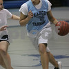 Peabody: Peabody junior Janelle Rodriguez drives to the basket during a scrimmage at basketball try-outs on Wednesday. Photo by Matt Viglianti/Salem News Wednesday, December 03, 2008