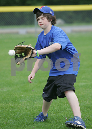 Joe Klingensmith during a Topsfield Little League all-star practice.