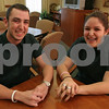 Peabody: Siblings Matthew and Lauren Ferry of Peabody have worked together at Brooksby Village in Peabody for about six months. Over 260 area students work at the Retirement Community, including 19 sets of siblings. Photo by Matthew Viglianti/Staff Photographer Thursday, February 26, 2009.
