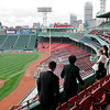 Boston: Beverly High School students take in the scene from the State Street Pavillion Club behind home plate at Fenway Park in Boston during their senior prom on Thursday evening. Photo by Matthew Viglianti/Staff Photographer Thursday, June 10, 2010.