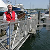 Salem: Despite a down economy, Russ Vickers from Hawthorne Cove Marina in Salem has seen steady business at the start of the boating season. Photo by Matthew Viglianti/Staff Photographer Wednesday, May 13, 2009.