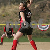 Swampscott: Salem sophomore Sarah Chasse pitches for the witches during their away game against Swampscott on Monday afternoon. Photo by Matthew Viglianti/Staff Photographer Monday, April 27, 2009.