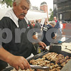Peabody: Stavros Moutsoulas of Peabody grills chicken for gyros during the Peabody International Festival on Sunday. Moutsoulas is a member of St. Vasilios Church in Peabody. Photo by Matt Viglianti/Salem News Sunday, September 14, 2008