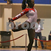 Danvers: Fabu Cox from New York performs a floor routine during the USA Gymnastics Regional Championships at Danvers High School on Sunday. Photo by Matthew Viglianti/Staff Photographer Sunday, April 19, 2009.