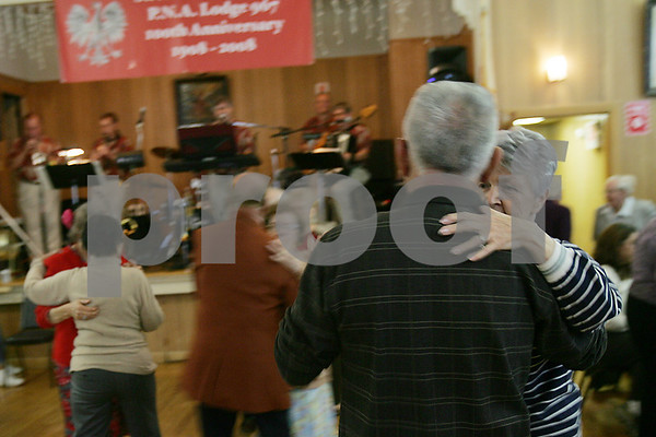 Peabody: Couples take to the dance floor during the fifth annual Polish Picnic at the St. Michael's Society Hall in Peabody on Sunday. Photo by Matt Viglianti/Salem News Sunday, October 05, 2008