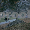 Salem: People walk through Forest River Park in Salem on Wednesday afternoon. Photo by Matt Viglianti/Salem News Wednesday, November 12, 2008