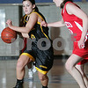 Danvers: Bishop Fenwick sophomore Amy Pelletier, left, drives against Masconomet senior captain Krissy DiBenedetto during the first half of the championship game of the North Shore High School Hoop Invitational at Danvers High School on Monday. Fenwick won the game 58-43. Photo by Matthew Viglianti/Staff Photographer Monday, February 16, 2009.