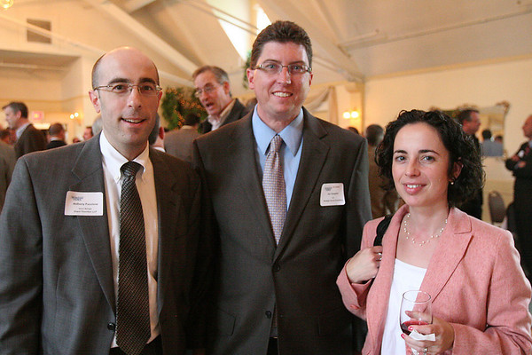 Beverly: From left, Anthony Fuccione, Jay Campbell, and Lisa Russell enjoy the North Shore Technology Council open house at the Beverly Golf and Tennis Club on Wednesday. Photo by Matthew Vigliant/Staff Photographer Wednesday, May 12, 2010.