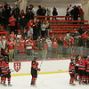 Cambridge: Marblehead fans cheer their team after the final horn ends the Division 3 state semifinal game and the Header's season at the Bright Center at Harvard University on Wednesday night. Marblehead fell to Scituate 5-2. Photo by Matthew Viglianti/Staff Photographer Wednesday, March 10, 2010.