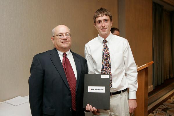 Salem News Student-Athlete Award dinner. Greg Krathwohl with Nelson Benton.