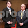 Salem: Robert Chapruet from Danvers High School poses with Nelson Benton from the Salem News. Photo by Matthew Viglianti/Staff Photographer Wednesday, April 1, 2009.