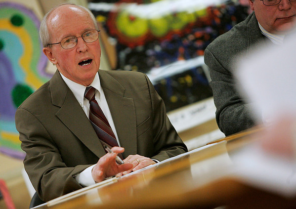 Beverly: Dr. James Hayes, superintendent of schools in Beverly, speaks at a school committee meeting at the Memorial Building on Wednesday night. The committee met to discuss the plan to turn Hannah Elementary School into an early-education center, and ultimately, decided against the idea. Photo by Matthew Viglianti/Staff Photographer Wednesday, March 24, 2010.