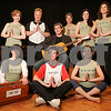 Marblehead: Local yoga instructors will perform and teach yoga to live music for a fundraiser class at Temple Emanu-El in Marblehead on Sunday, April 26 from 11:45 a.m. to 2 p.m. Back row from left are Alicia Diozzi from Salem, Kevin Mastronardi from Swampscott, Alec Kassoff from Marblehead on guitar, Elaine Wintman from Salem, Larisa Foreman from Swampscott, and Willa Worsfold from Wenham. In front from left to right are Tracy Anderson from Marblehead on harmonium, Ben Karas from Marblehead, and Danielle Jacobs from Marblehead. Photo by Matthew Viglianti/Staff Photographer Thursday, April 16, 2009.