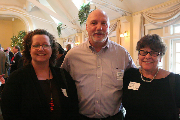 Beverly: From left, Jan Alicardi, Charles Marasco, and Carol Reebenacker, enjoy the North Shore Technology Council open house at the Beverly Golf and Tennis Club on Wednesday. Photo by Matthew Vigliant/Staff Photographer Wednesday, May 12, 2010.