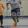 Peabody: Nour Shahin, a shot putter on the Peabody High School track team, works out at practice on Tuesday afternoon. Photo by Matthew Viglianti/Staff Photographer Tuesday, December 23, 2008.