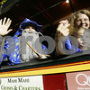Salem: Parade goers wave from a trolley during the Haunted Happenings parade in Salem on Thursday. Photo by Matt Viglianti/Salem News Thursday, October 02, 2008