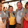 Salem: From left to right, Ellie Hogan, Anne Kemelman, Larry Littler, and Alikya Windgate, all from Salem, take a moment from celebrating Kemelman's 100th birthday at the Salem Waterfront Hotel on Thursday to pose for a picture. Photo by Matthew Viglianti/Staff Photographer Thursday, May 21, 2009.