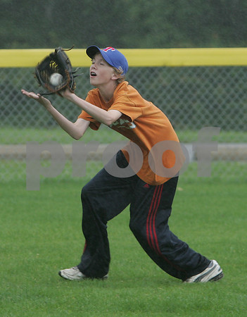 Ryan Spaulding during Topsfield Little League all-star practice.