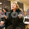 Peabody: Claire Cawley from Salem expresses her viewpoint during a meeting at St. Thomas Church in Peabody to brainstorm ways to save St. Joseph's School in Salem from closing on Wednesday night. Cawley is a member of the school's advisory board and a parent of an eigth grade student at St. Joseph's. The Archdiocese, which owns the school, announced its closing this month. Photo by Matt Viglianti/Salem News Wednesday, January 21, 2009