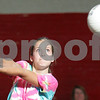 Beverly: Ashly Labonte from Salem bumps the ball during Salem's exhibition volleyball match against Beverly in Beverly on Wednesday. The 2008 season is the first for both programs. Photo by Matt Viglianti/Salem News Wednesday, September 03, 2008