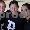 Peabody: From left to right, Mariah Wentworth, Kayleigh Papa, and Shannon Silvia, all senior captains, hope to guide the Peabody girls hockey team to a winning season. Photo by Matthew Viglianti/Staff Photographer Thursday, December 3, 2009.