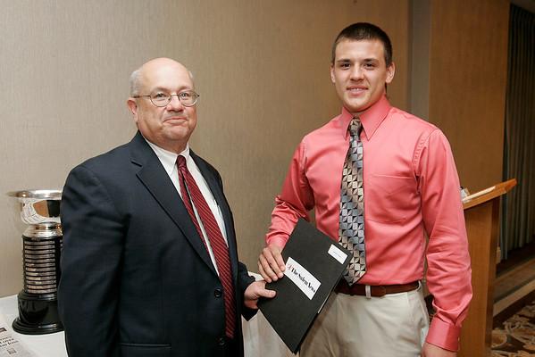 Salem News Student-Athlete Award dinner. David St. Pierre with Nelson Benton.
