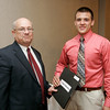 Salem News Student-Athlete Award dinner. David St. Pierre with Nelson Benton.