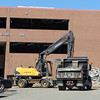 Construction workers have started the demolition of the Cornelius Dunn Wing at Danvers High School to make way for the second phase of the High School Project. David Le/Staff Photo