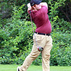 Salem: Gloucester's Bart Margiotta tees off on the 3rd hole against Salem on Tuesday afternoon. David Le/Gloucester Daily Times