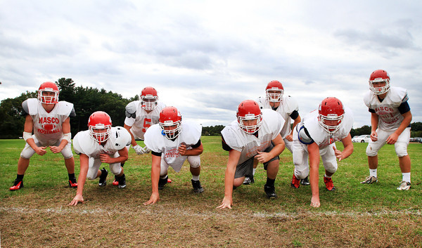 Boxford: The defensive front eight for Masco have played well all season for the Chieftans. They are led by seniors captain Mackenzie Cashin (ROLB), Austin Cashin (RE), Mike MacKay (ILB), Kevin Zegel (DT), and juniors Kyle Taggart (DT), Steve O'Reilly (ILB), Jack Butt (LE), and Gavin Monagle (LOLB). David Le/Salem News