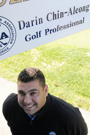 Wenham:<br /> Wenham Country Club pro Darin Chin-Aleong.<br /> Photo by Ken Yuszkus, The Salem News, Monday, September 30, 2013.